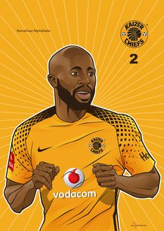 Iwisa Kaizer Chiefs Players_Poster Collection_Ramahlwe Mphahlele Kaizer Chiefs, Soccer Teams, Product Launch, 4 Life, Shiva, Illustration, Campaign, Poster, Kit