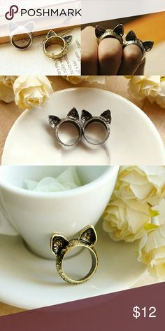 Vintage style cat ring 💍🐱 New. For the cat lover! 🐈   Hello dear! 💋 Take a look at what I have for sale and don't be afraid to make an offer 😊 Bundle your items for a 10% discount 😮 New items arrive daily so be sure to check back soon 👀Make sure to look out for my buy 2 get one free deals💸   👛💄Happy shopping 👠👗 Jewelry Rings