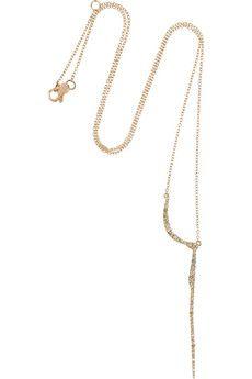 CristinaOrtiz 9-karat rose gold diamond necklace   NET-A-PORTER--Oooh, I like the rose gold/white diamond version too.