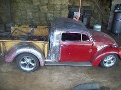 PHOTOS: The Bugtruck, a Volkswagen Chevy Frankentruck, is the coolest mini pickup we've ever seen Small Trucks, Cool Trucks, Cool Cars, Vw Pickup, Pickup Trucks, Vw Rat Rod, Rat Rods, Combi Wv, Vw T