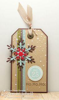 Freshly Made Sketches 115, I Create, Christmas Tag, Snowflake