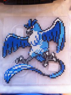 Articuno (144) Pokemon Hama Beads by MillyPl