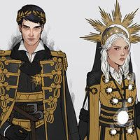 Evangeline Samos and Elane Haven both from the Red Queen series by Victoria Aveyard. (Fanart)