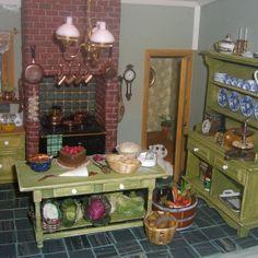 8 dollhouse miniature old kitchen by Limor Moyal