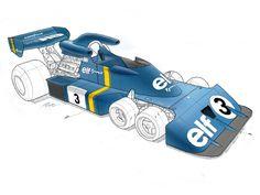 "Tyrrell P34 ""six wheeler"" prototype"