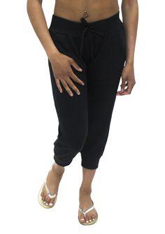 Pretty Girl - Black Quilted Jogger Capri, $12.99 (http://www.shopprettygirl.com/black-quilted-jogger-capri)