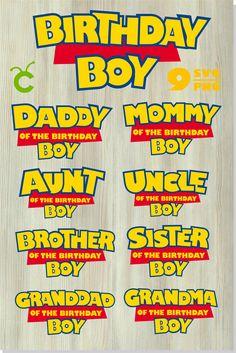 Toy Story birthday boy svg png / Toy Story Family logo t shirt svg DIY Toy Story Cricut Cut File svg / Print and cut Toy Story Birthday Cake, Birthday Logo, 2nd Birthday Boys, 2nd Birthday Party Themes, Birthday Boy Shirts, Woody Birthday, Birthday Ideas, Toy Story Font, Toy Story Shirt