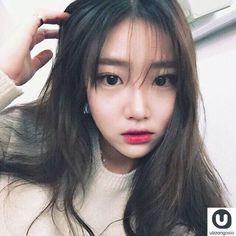 S̶x̶f̶a̶a̶ in 2020 Beauty Book, Hair Beauty, Yoon Ara, Korean Bangs Hairstyle, Korean Girl, Asian Girl, Korean Women, Korean Fashion Ulzzang, Korean Ulzzang