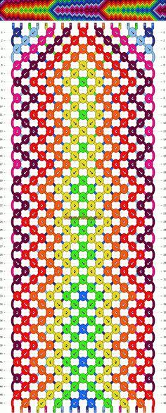 Normal Friendship Bracelet Pattern #11029 - BraceletBook.com