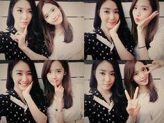 Girls Generation YoonA and Tiffany