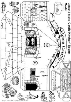 Kids Castle. Click and learn all of the parts of a castle