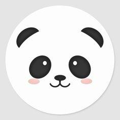 Shop Cute panda bear face kawaii style classic round sticker created by kikiway. Panda Kawaii, Kawaii Diy, Cute Panda, Kawaii Anime, Panda Craft, Panda Bear Crafts, Panda Illustration, Happy Birthday Printable, Cute Winnie The Pooh