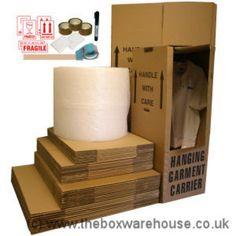 Jumbo house removal pack, bubblewrap boxes complete kit