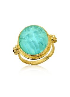 Tagliamonte Three Graces - Gold Turquoise Mother of Pearl Cameo Ring Cameo Jewelry, Cameo Ring, Gold Jewelry, Jewelry Rings, Jewelry Box, Jewelry Accessories, Ring Ring, Sea Glass Jewelry, Stone Jewelry