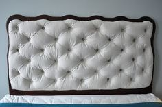 how to button tuft a headboard