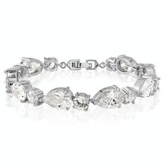 Tear+drop+crystal+wedding+bracelet, £39.99