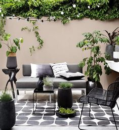 1 Room, 4 Looks: Rustic Summer Patio Home Decor Furniture, Outdoor Furniture Sets, Plascon Paint, Outdoor Couch, Outdoor Decor, Plascon Colours, Coastal Gardens, Patio Wall, Patio Plants