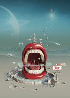 Colgate Total: Intergalactic Mouth Advertising Agency: Y&R RedFuse, New York, USA Global Creative Director: Gloria de la Guardia Creative Director: Marco Walls Associate Creative Director: Hernan Ibañez Art Directors: Marco Walls, Hernan Ibañez Copywriter: Samuel Melgar Illustrator: Ricardo Salamanca Published: March 2014