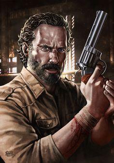 """ Rick Grimes "" by sadece KAAN. (DeviantART Link: http://fav.me/d9ch7ug )"