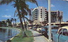 Collins Avenue late 1950's Miami Beach