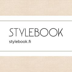 my stylebook profile (finnish only)