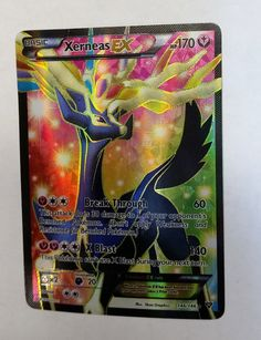 XERNEAS Ex FULL ART 146/146 ULTRA RARE HOLO Pokemon TCG XY Base Set Pokemon Fan Art, My Pokemon, Pokemon Games, Pikachu, Pokemon Birthday, Turtle Birthday, Birthday List, Pokemon Go Images, Cool Pokemon Cards