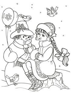 Раскраска Снегурочка New Year Coloring Pages, Christmas Coloring Pages, Free Coloring Pages, Printable Coloring Pages, Colouring Pics, Coloring Pages For Kids, Adult Coloring, Coloring Books, Christmas Colors