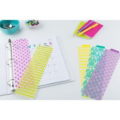Avery Snap-In Plastic Bookmark Dividers, 5 Tabs, 1 Set, Assorted Designs (24909)