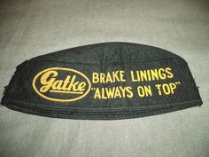 Vintage Gatke Service Station Attendant Hat Cap Uniform Cloth Gas Station Brake
