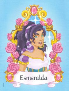 Esmeralda was a disney princess until she was taken out of the lineup in 2004 Disney Magic, Disney Art, Disney Movies, Walt Disney, Disney Characters, Disney Princesses, Disney Wiki, Esmeralda Disney, Disney Kunst