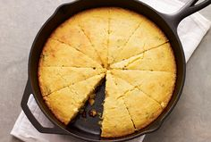 Skillet Cornbread with Dried Cranberries & Sage
