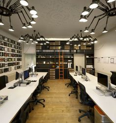 How about install light that looks like a spider in your Open Plan Office! :) #openplanoffice