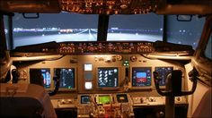 Air Traffic Controller Builds A Personal Flight Simulator Using Boeing 737 Cockpit - The Tech Journal Boeing 737 Cockpit, Flight Simulator Cockpit, Airplane Wallpaper, Airline Pilot, Private Pilot, Air Traffic Control, Best Flights, Love Boat, New Job