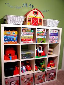 Playroom organization ideas-- too bad it would never stay like this