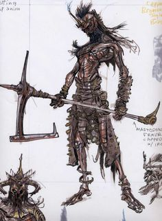 Draugr Concepts concept art from The Elder Scrolls V: Skyrim by Adam Adamowicz