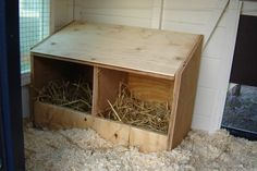 Afbeeldingsresultaat voor legnest kip maken Keeping Chickens, Hope Chest, Wood Projects, Storage, Home Decor, Google, Purse Storage, Decoration Home, Room Decor