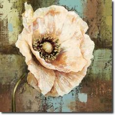 A bold flower on an abstract ground makes the Great BIG Canvas Papaver II Grande Canvas Wall Art a welcome sight in any room. The original painting. Abstract Canvas, Canvas Wall Art, Canvas Prints, Art Prints, Big Canvas, Framed Prints, Flower Wall Decor, Botanical Flowers, Watercolor Flowers