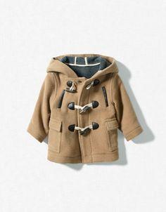 Hooded duffle coat, Zara