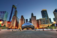 Cloud Gate and #Chicago Skyline