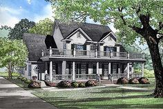 Southern Traditional - 59619ND | Country, 1st Floor Master Suite, Butler Walk-in Pantry, CAD Available, Den-Office-Library-Study, Handicapped Accessible, Media-Game-Home Theater, PDF, Corner Lot | Architectural Designs