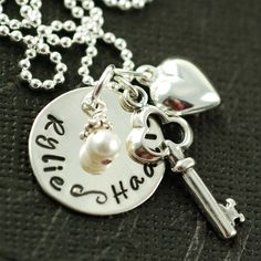 Hand Stamped Sterling Silver Personalized Necklace - what a great idea for Mother's Day - hint, hint, hint.