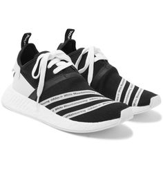 These 'NMD R2' sneakers are part of <a href='http://www.mrporter.com/mens/Designers/Adidas_Originals'>adidas Originals</a>' most recent collaboration with Japanese label White Mountaineering. Made from flexible Primeknit for a sock-like fit, they're detailed with branded white tape that riffs on the sportswear giant's iconic three-stripes. Faux nubuck heel tabs, reinforced seams and grooved plugs set in the energy-retu...