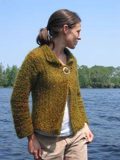 Knit sideways jacket--free pattern