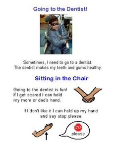This is a 11 page social story for going to the dentist. It covers waiting for your turn, tools at the dentist, the dentist job and what to do in t...
