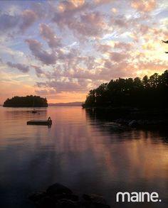 Sebago Lake in Maine Lakeside Lodge, Long Lake, Lake Mountain, Pacific Crest Trail, Lake Water, Lake Life, The Great Outdoors, State Parks, Kayaking