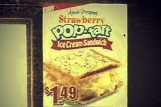 Munchies alert for those who indulge in odd habits while watching reality tv or awards shows: Carl's Jr. Starts Testing Pop-Tart Ice Cream Sandwich on Strawberry Pop Tart, Carl's Jr, Frozen Breakfast, Frozen Summer, Summer Ice Cream, Breakfast Pastries, Snack Recipes, Snacks, Summer Treats