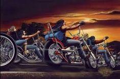 David Mann's Greatest Work Set to the Tune of One Last Ride Motorcycle Art, Bike Art, Motorcycle Posters, Gta 5, Cafe Racers, Art Moto, David Mann Art, Drawn Art, New Motorcycles