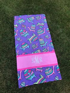 Personalized Beach Turtle Towel, Turtle, Monogram Towel, Camp Towel,  Swim Towel, Pool Towel, Birthday Gift, Back to School, Nap Mat by TheBeeBoutiqueNC on Etsy