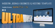 Buy UltraHost - Business & Hosting Joomla Template by ThemeLan on ThemeForest. UltraHost is a Modern Responsive Joomla Web Hosting and Business template. It comes with subtle design and clean cod. Joomla Templates, Keynote Template, Joomla Themes, Hosting Company, Website Themes, Best Wordpress Themes, Website Template, Things To Come, K2