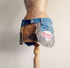 Boho Chic Upcycled taille sac à main par BrokenGhostClothing